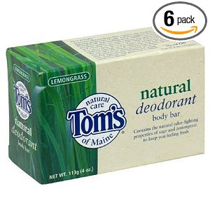 Tom's of Maine Natural Care Deodorant Body Bar